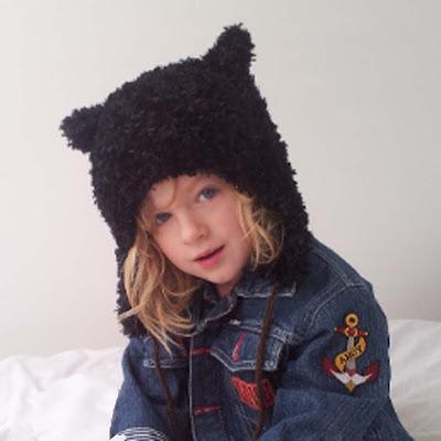 Cosy Knitted Bear Hat, Bear Trapper Hat, Bear Hat pattern