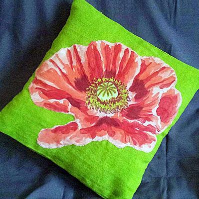 Appliqué Cushion Instructions, Appliqué Cushion How to, cool cushion, flower cushion