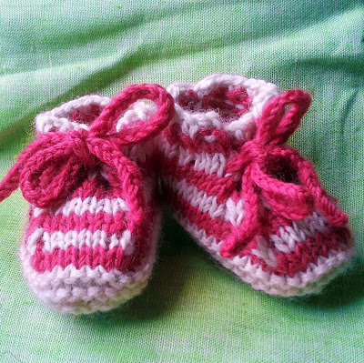 Cool baby boy booties, stripy booties, funky baby boots
