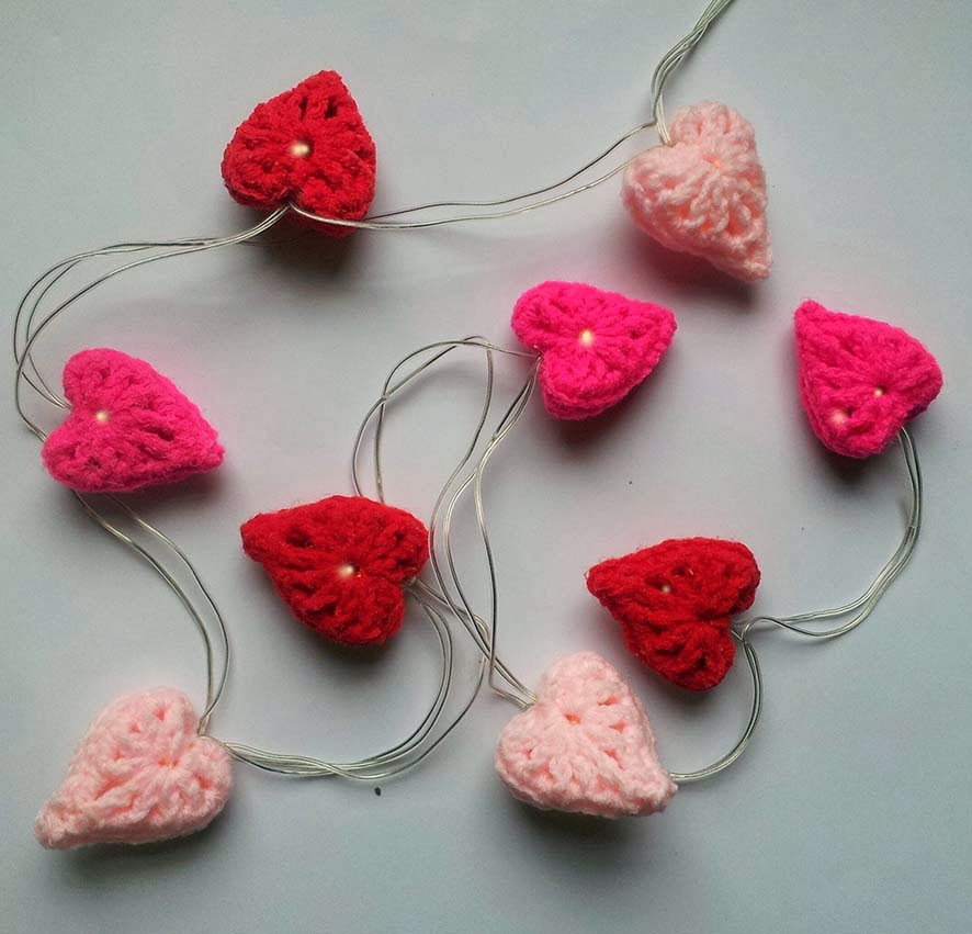 light up with hearts, heart fairy lights,valentine heart lights