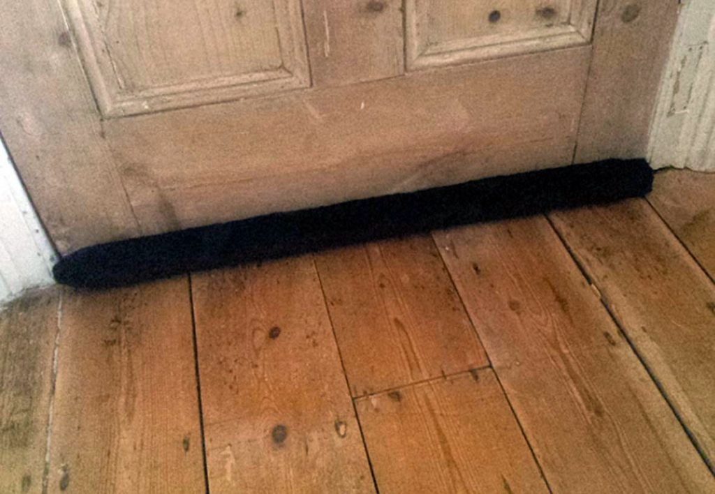 under-door draught excluder,  the best ever draught excluder, how to keep out the draughts