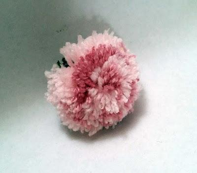 pompom rose, make a rose pompom